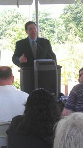 City Councilman Bill Peduto speaks at the PWSA press conference on Wednesday July 31st