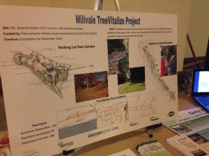 Representatives from the Millvale Treevitalize Project were some of the featured speakers at the event.