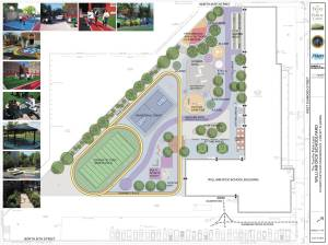 Plans to redo Philadelphia playground incorporating green infrastructure (picture source: huffingtonpost.com)